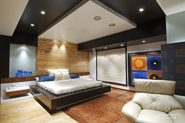 Luxurious Interiors And Indian Contemporary Art In A Triplex Simple Bedroom Interior Design In India Decorating Design
