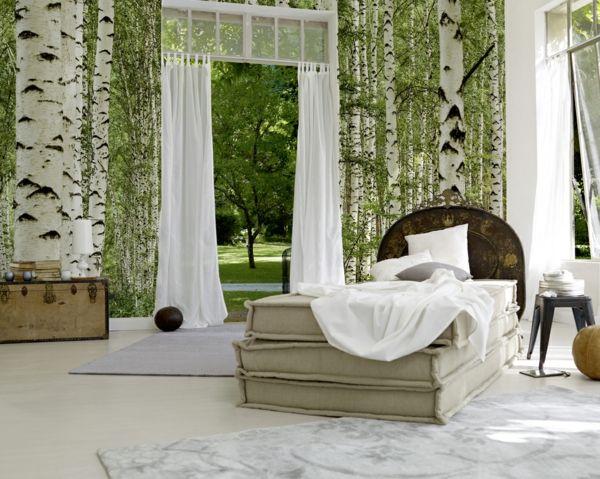 Wandgestaltung mit Fototapeten wunderschön märchenhaft schlafzimmer