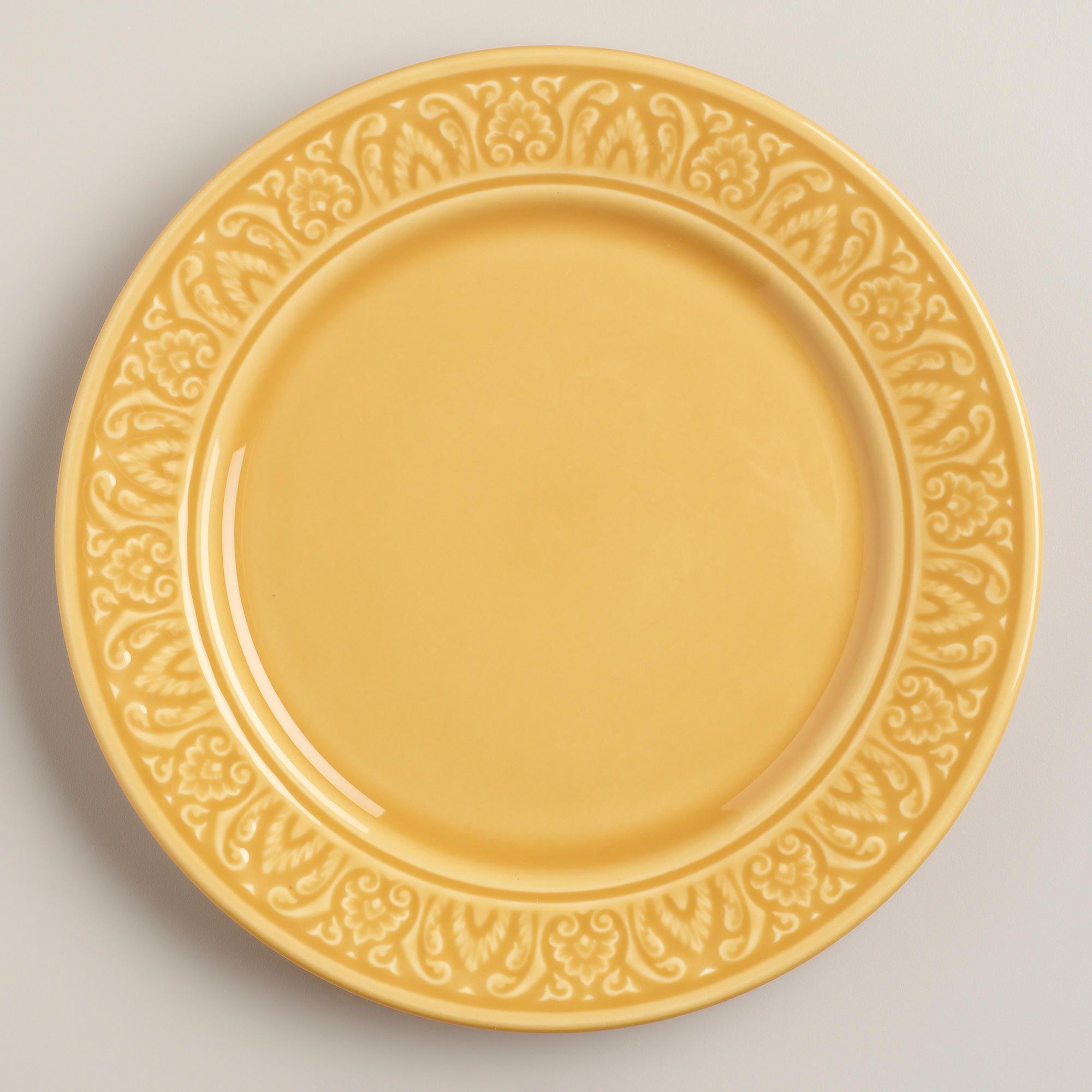 Amber Salad Plates, Set of 4 | World Market