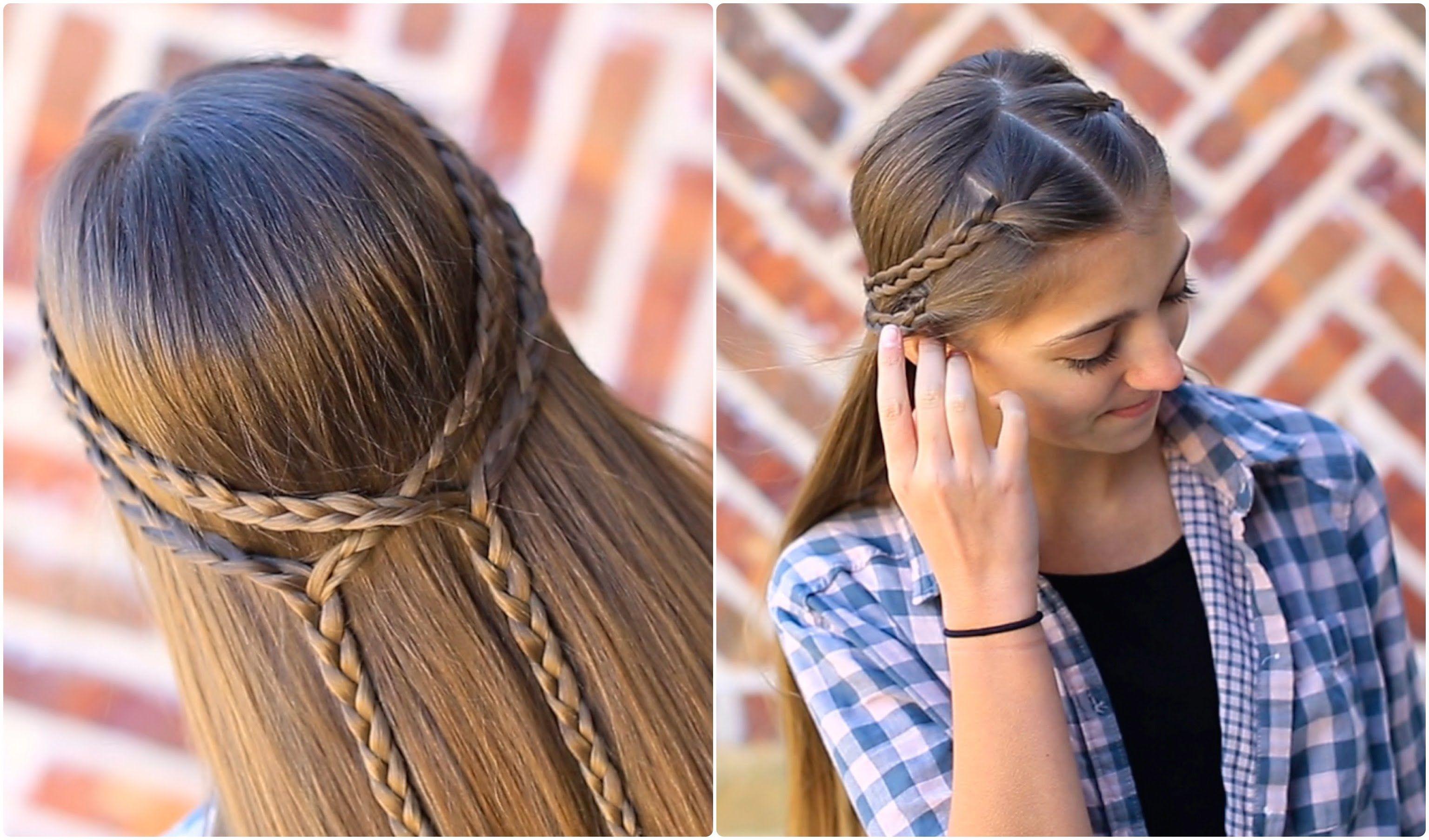 Double braid tieback cute girls hairstyles hairstyles