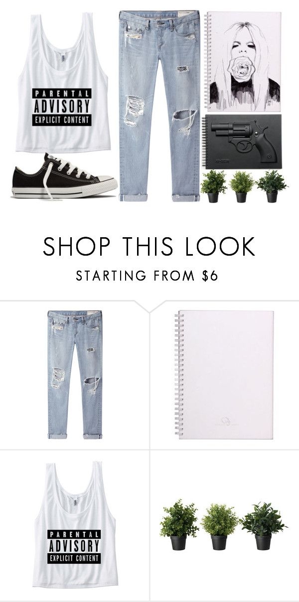 """Parental Advisory: Explicit Content"" by aria-97 ❤ liked on Polyvore featuring rag & bone/JEAN, Converse and Revolver"