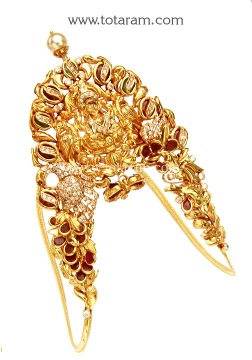 22K Gold 'Lakshmi' Arm Vanki (Temple Jewellery) | Gold arm ...