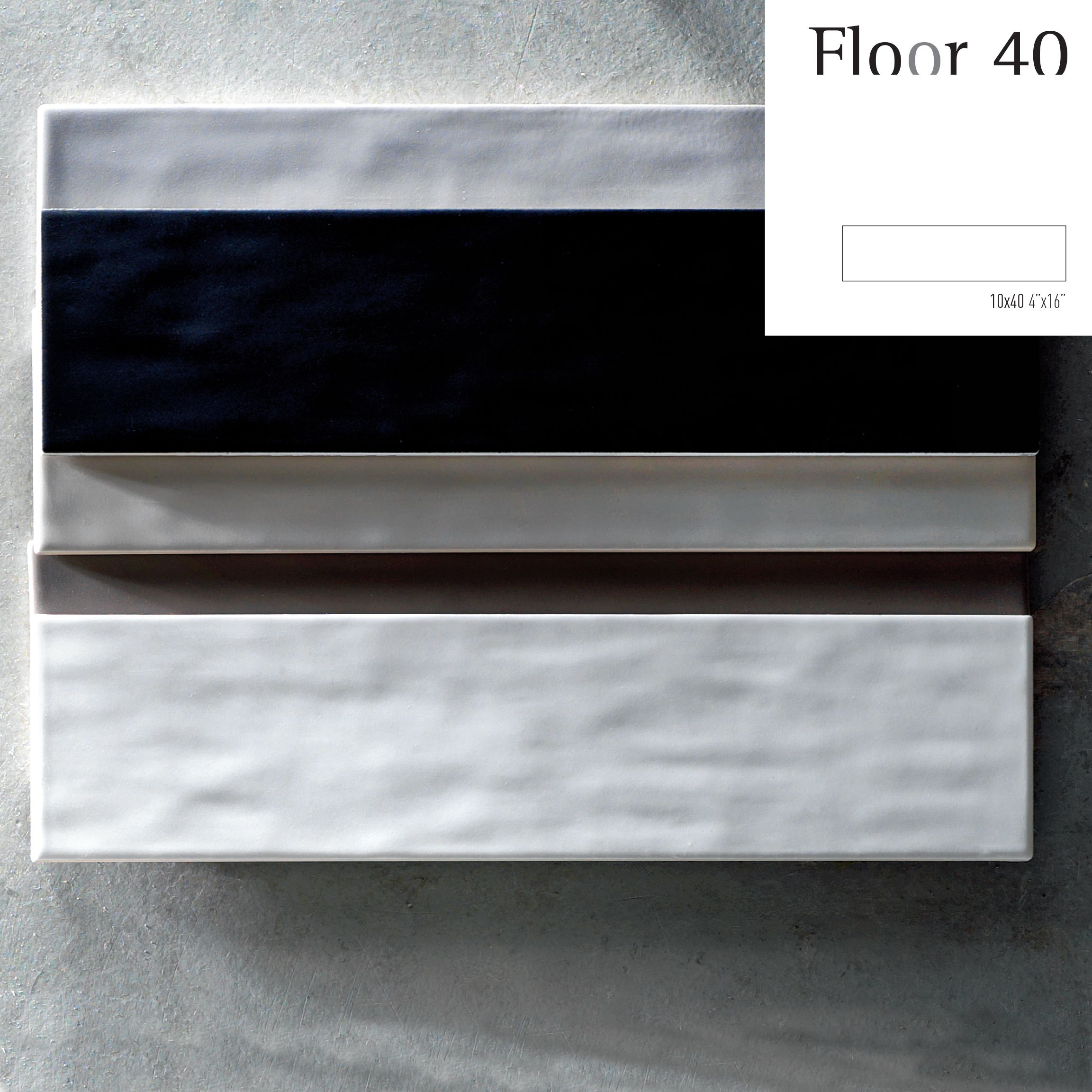 Tonalite collezione Floor 40, 10x40, 7 colori matt. Tiles ...