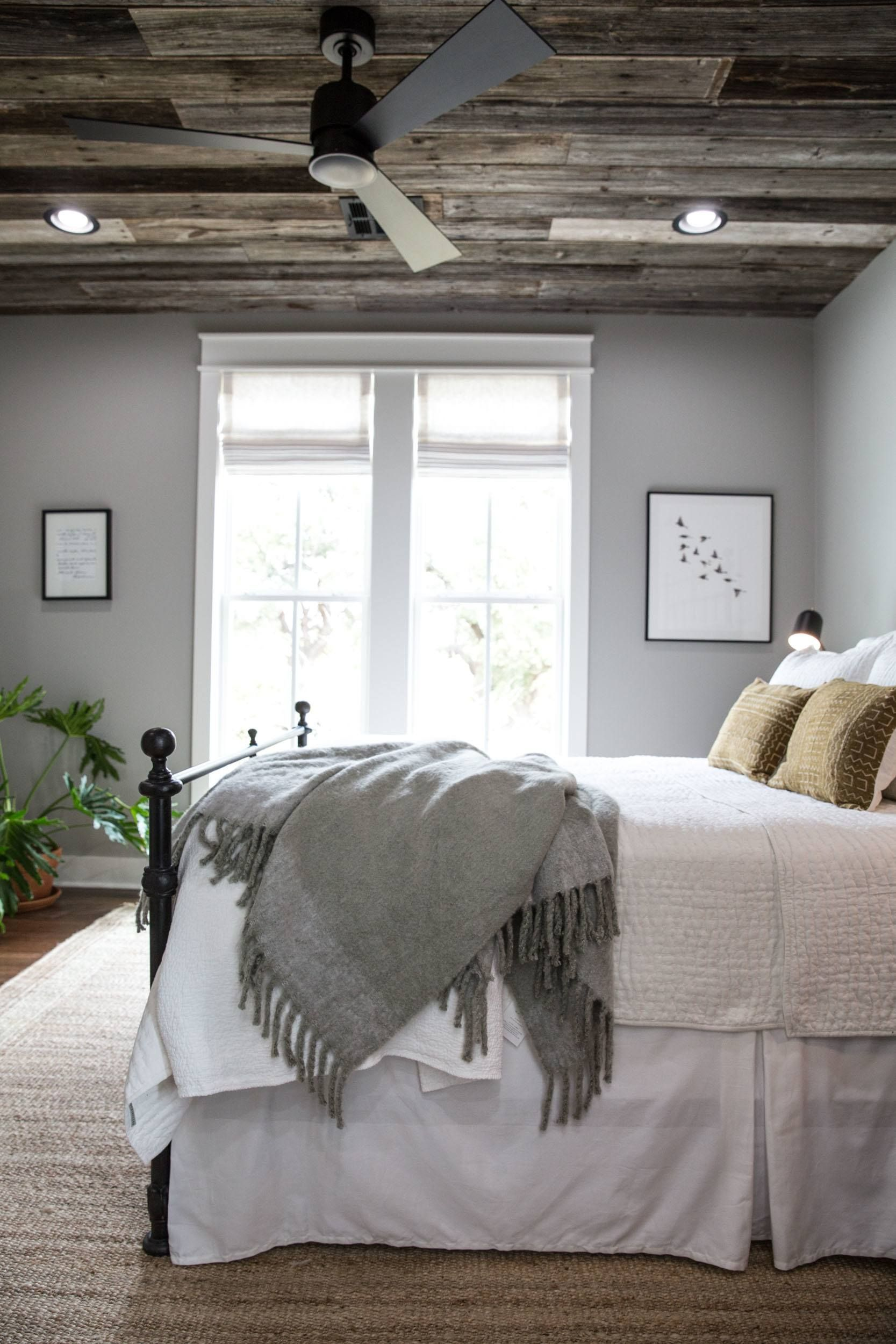 Joanna gaines master bedroom bedding  Fixer Upper Season  Episode   The Little Shack on the Prairie