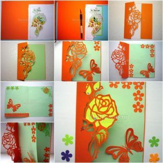 wonderful diy butterfly greeting card with images