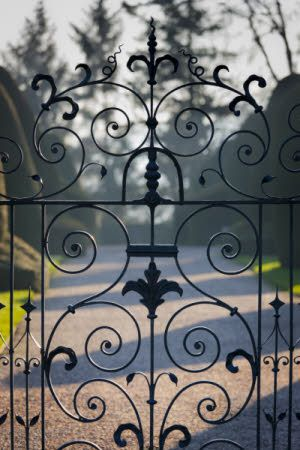 View Through The Ornamental Garden Gates At Chirk Castle, Wrexham. National  Trust   Andrew
