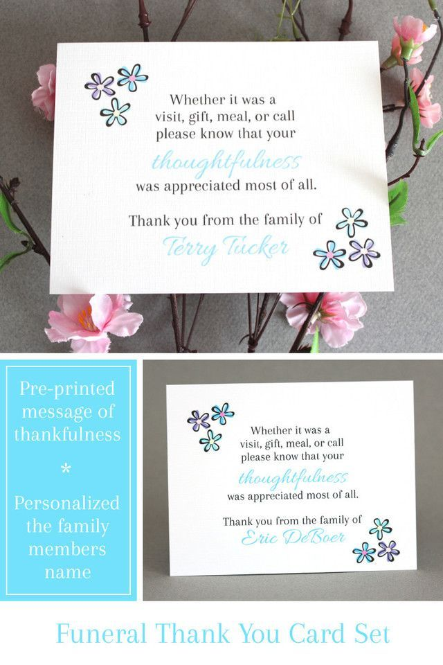 Personalized Funeral Thank You Cards Making A Terrible