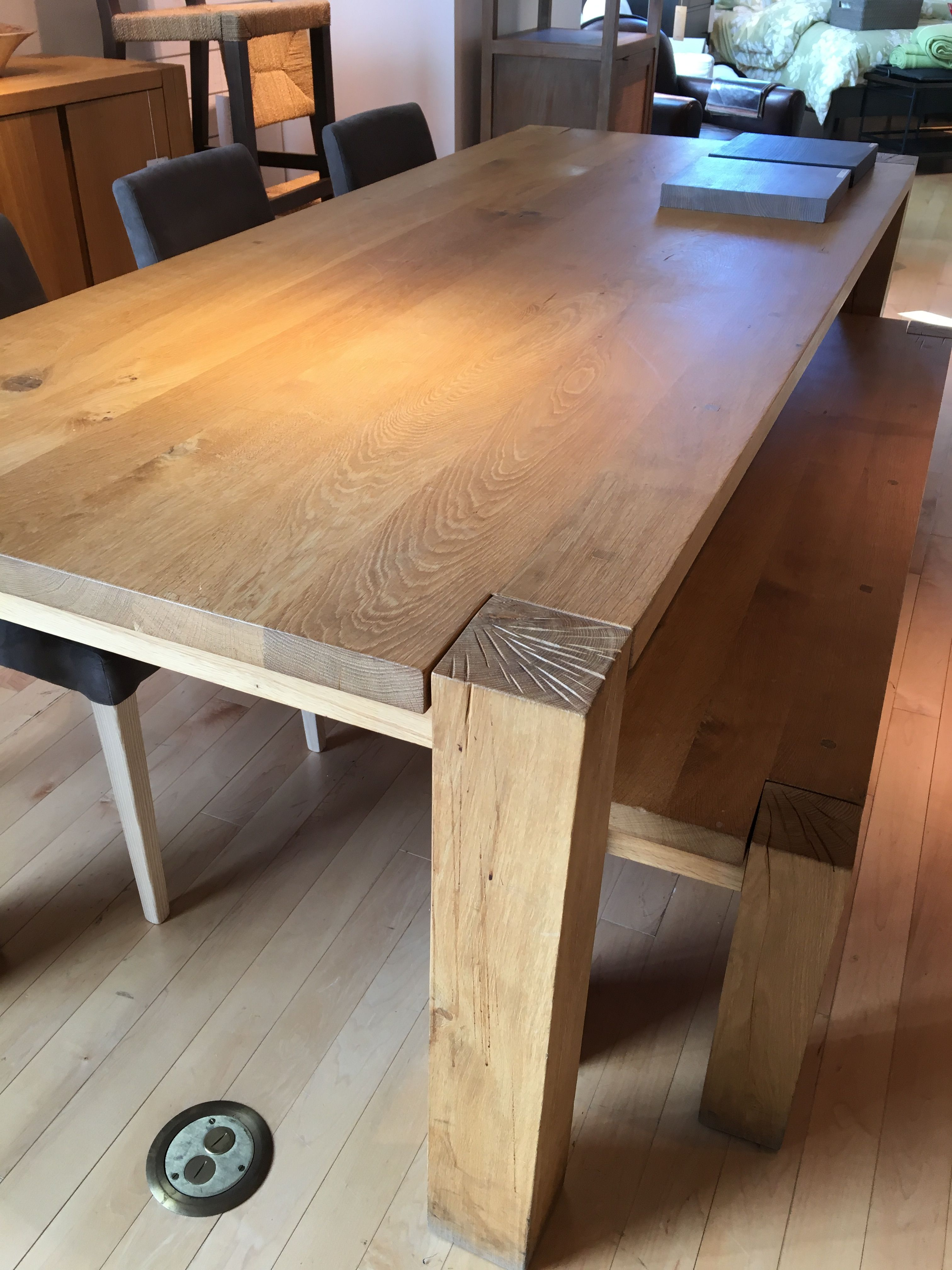 Crate Barrel Big Sur Table Dining Table Wooden Kitchen Table