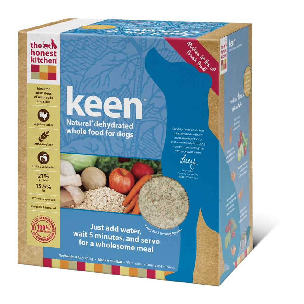Keen™ is a hearty dehydrated dog food recipe made with cage-free ...