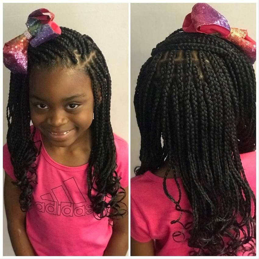 Having A Beautiful Box Braids Hairstyle Makes The Little Girls Cute And Stylish But If You Kids Hairstyles Braided Hairstyles For Teens Little Girl Box Braids