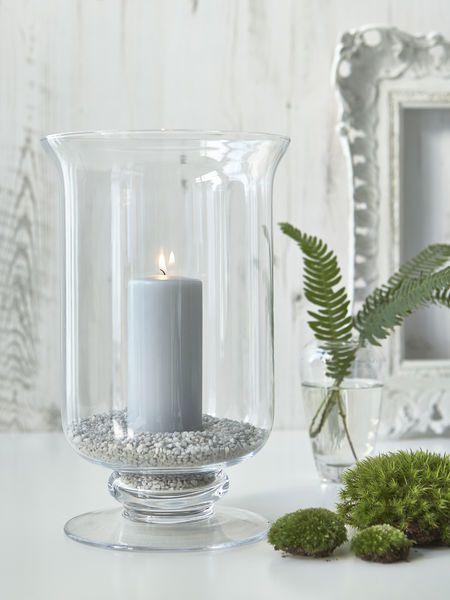 Glass Hurricane Lamps Candle Decor, Large Decorative Hurricane Lamps