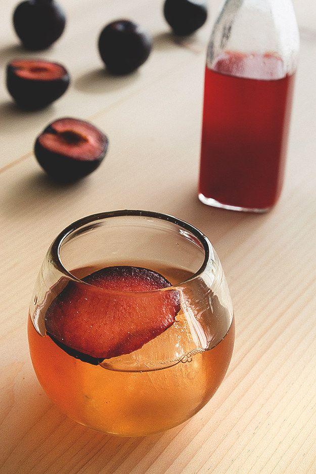 Plum Shrub Cocktail