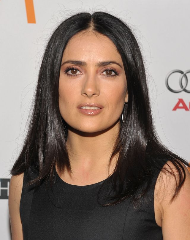 20 famous brunettes with great haircuts salma hayek pinterest