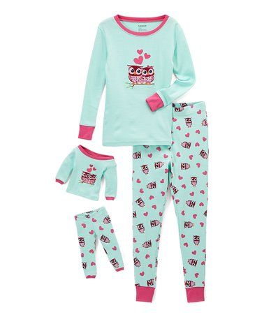 Love this Aqua Owl Pajama Set  amp  Doll Outfit - Toddler  amp  Girls on a3dc9a4cc