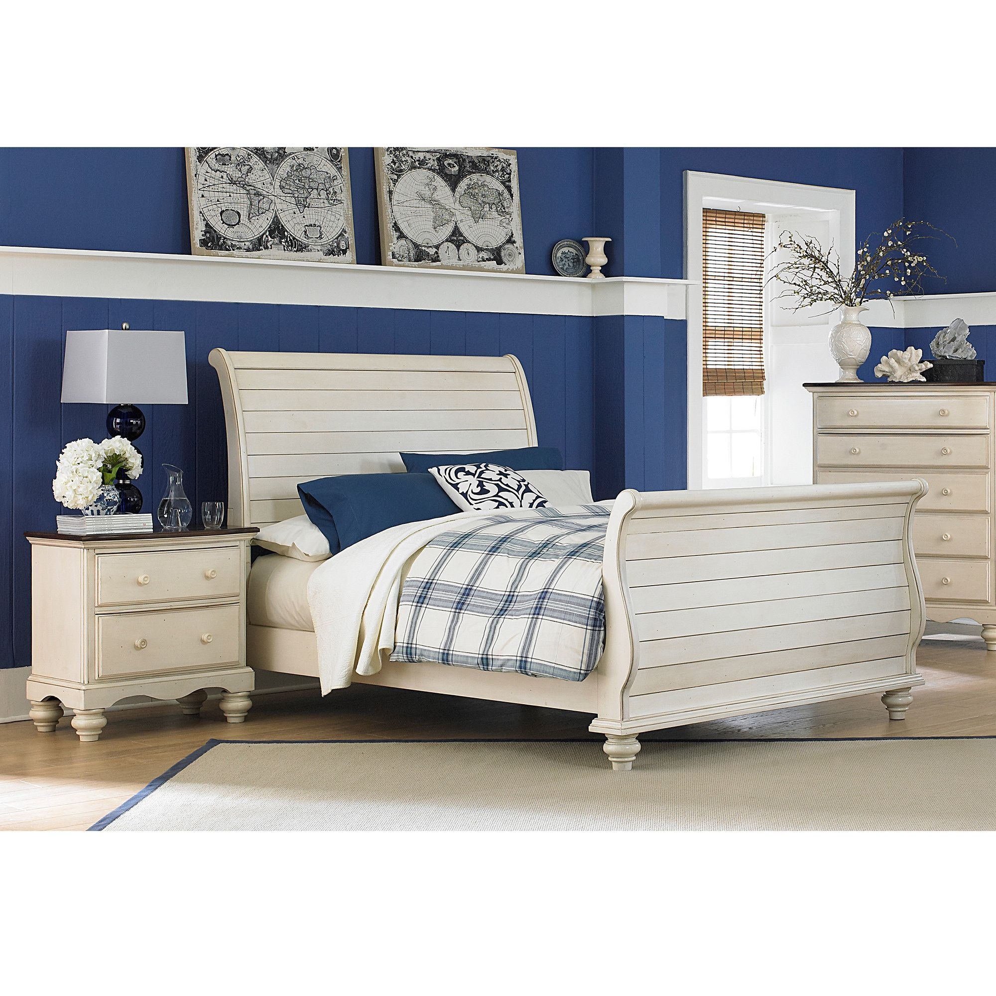Pine island sleigh bed overstock shopping great deals on
