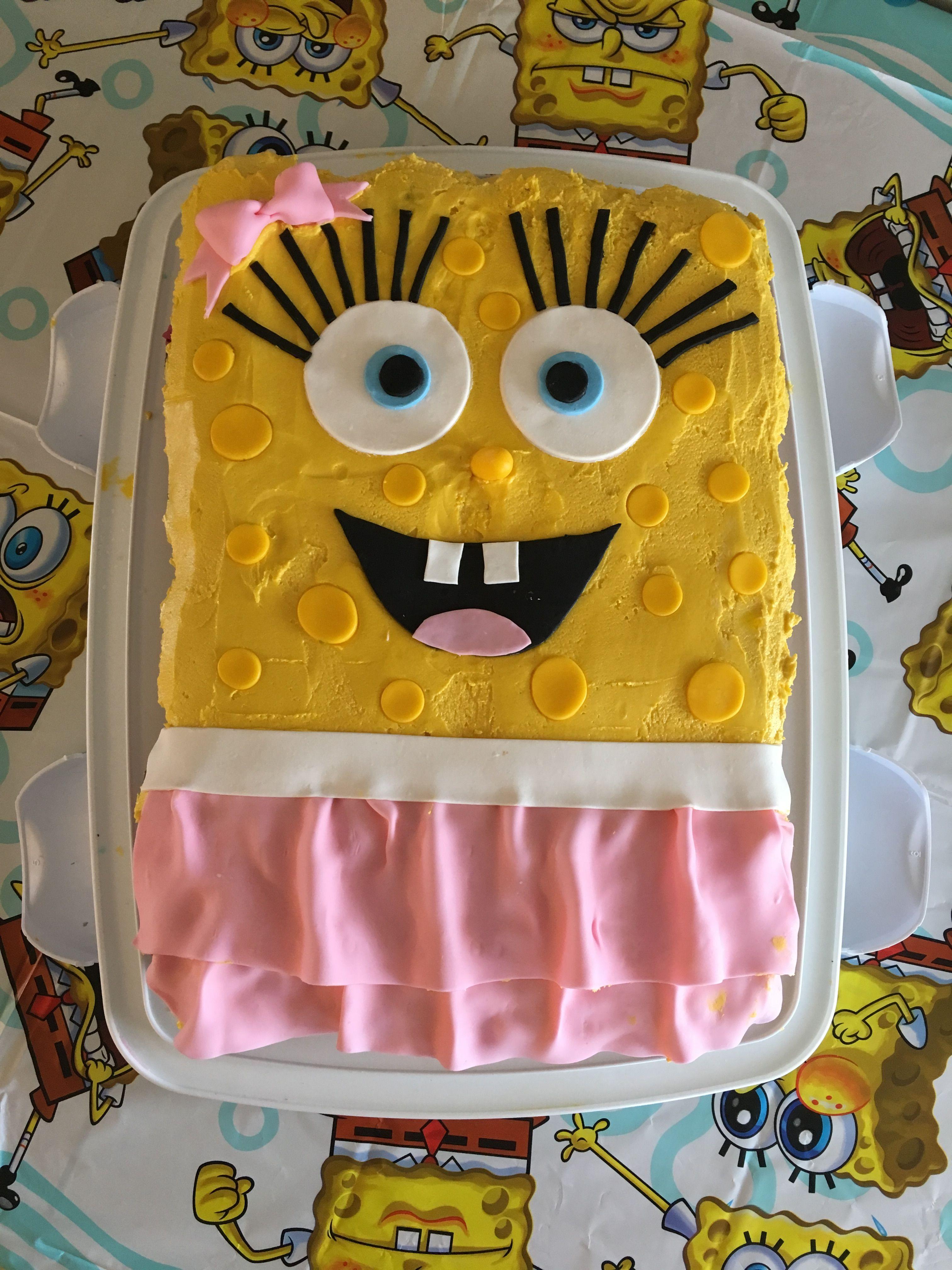 Girly spongebob cake spongebob cake lunch box spongebob