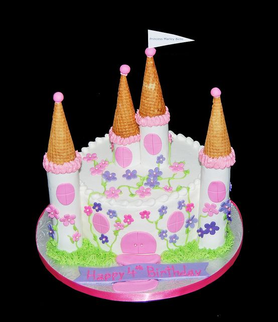 Princess Castle Cake for a 4th Birthday by Simply Sweets via Flickr