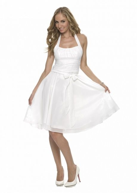 Kurze weiße kleider standesamt | Weiße kleider kurz