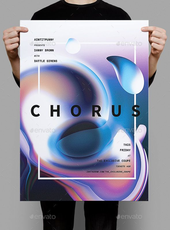 Chorus Poster / Flyer Envato Test Flyer template, Flyer design