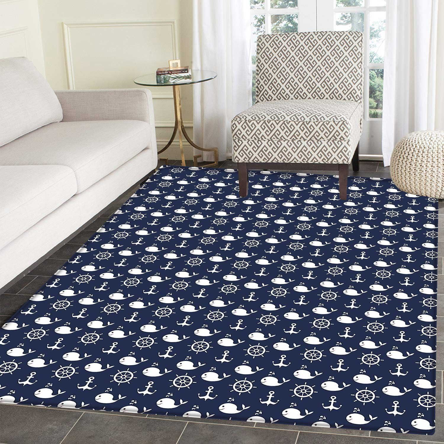 75 Whale Rugs And Whale Area Rugs 2020 Nautical Rugs Rugs