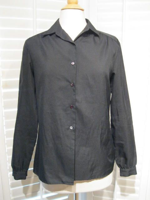 Vintage Black Ship n' Shore Long-Sleeved Blouse Size Large by GoodBuyForNow on Etsy