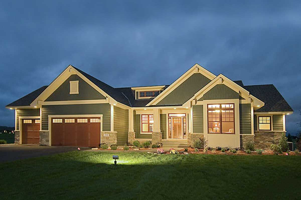 Plan 14308rk Empty Nester Or Room To Grow Empty Nester House Plans Craftsman House Plans Ranch House Plans