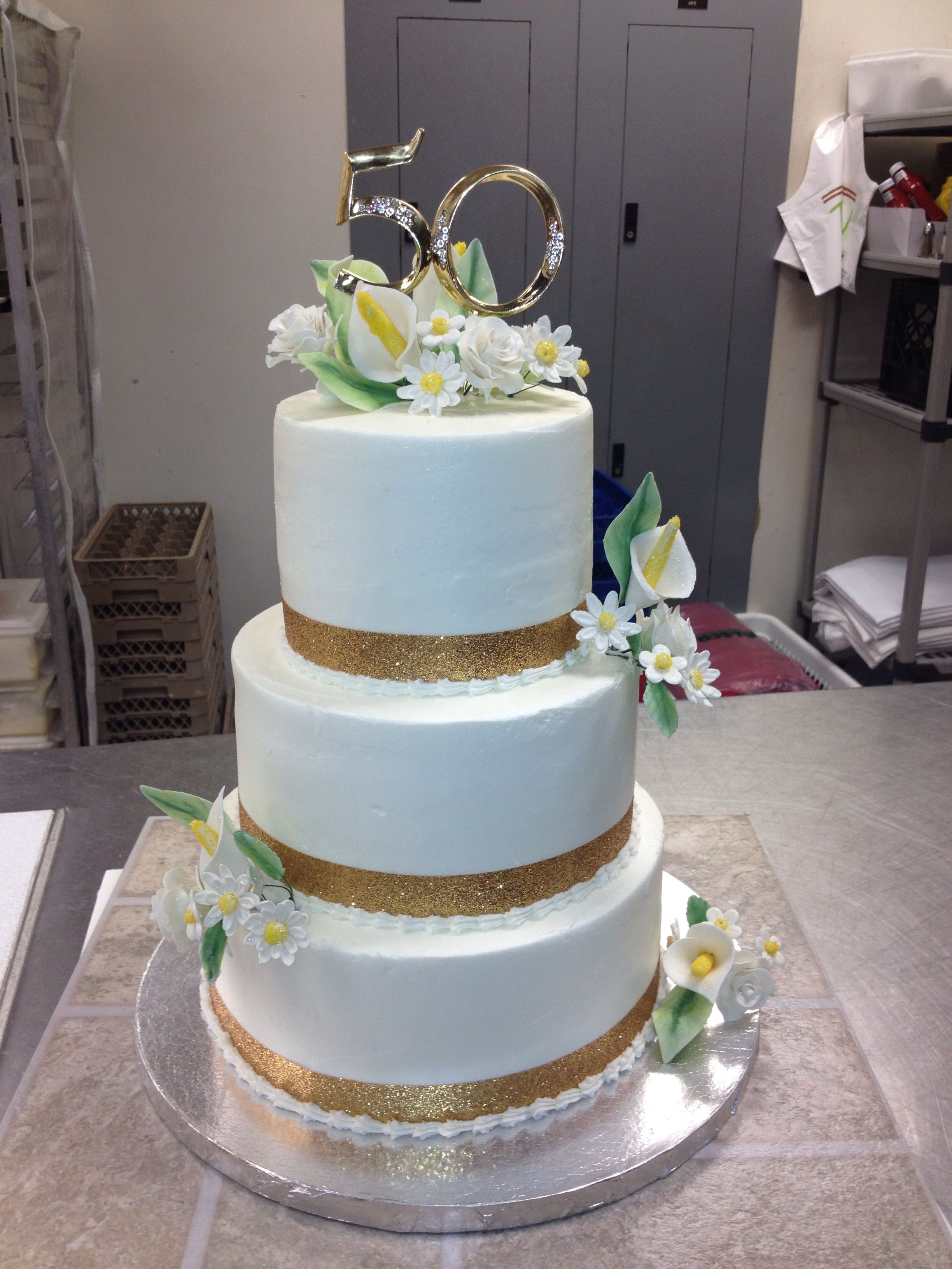 50 Th Wedding Anniversary Cake (With Images)