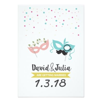 Costume party wedding invitation Party gifts, Wedding invitation - invitation to a party
