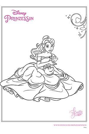Disney Prinzessin Belle Coloreartu Pinterest Ausmalen