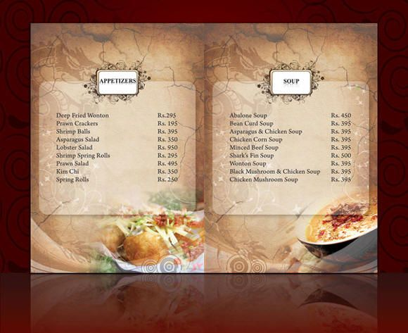 Sample Menu Card Menu Card Wording For Preselected Meals Weddings
