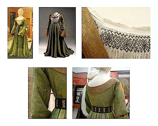1520 Mary of Habsburg, Queen of Hungary wedding dress (Hungarian National Museum)