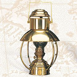 "Brass Trawler lamp from Den Haan Rotterdam 16.5"" x 10"" Hanging Lamp, Electric or Oil"