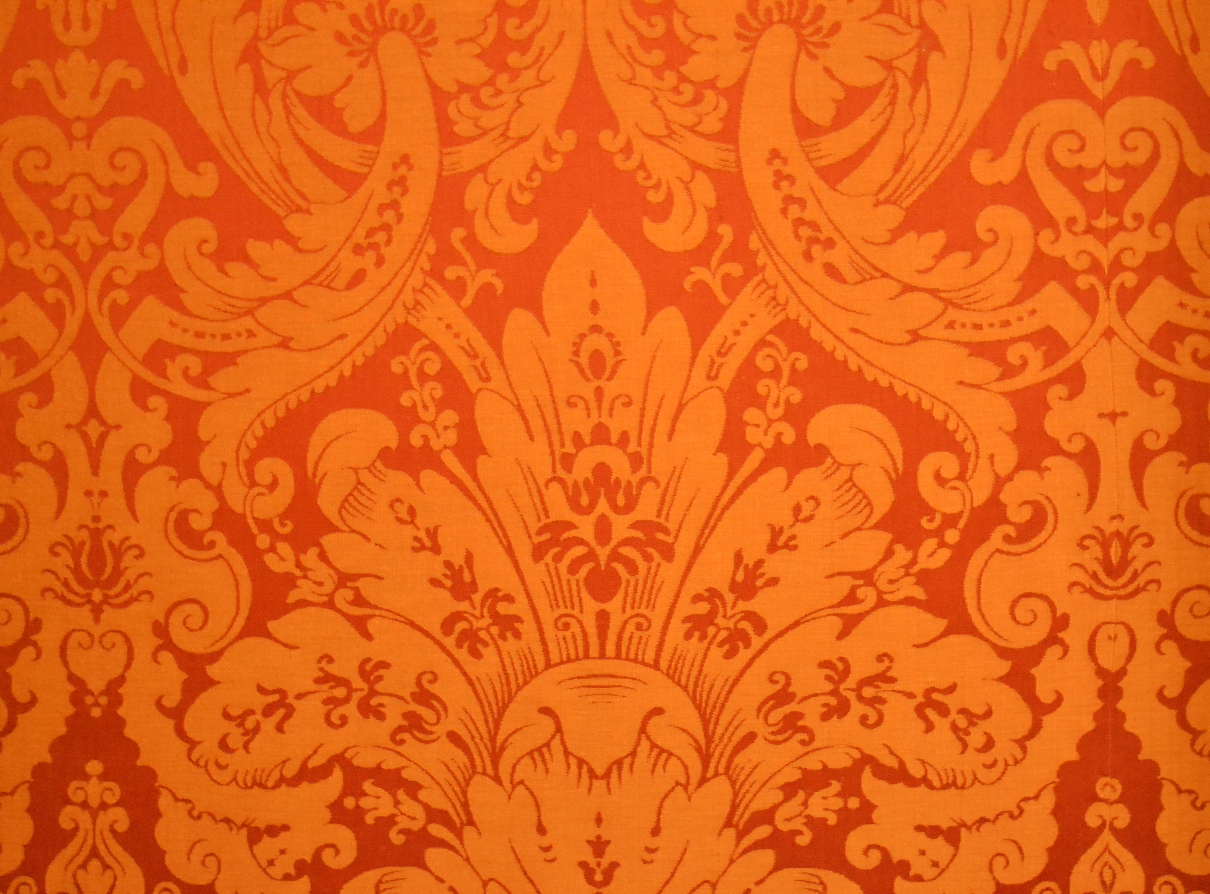 French Baroque Silk Wallpaper At The Chateau De Chambord