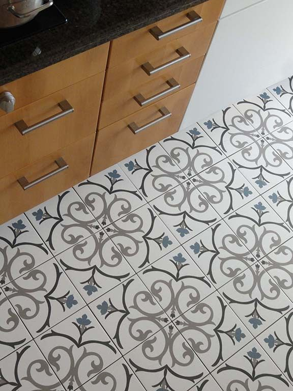 Decorative Tile Floors Black And White And Blue Decorative Tile Floor  Decorative Tile