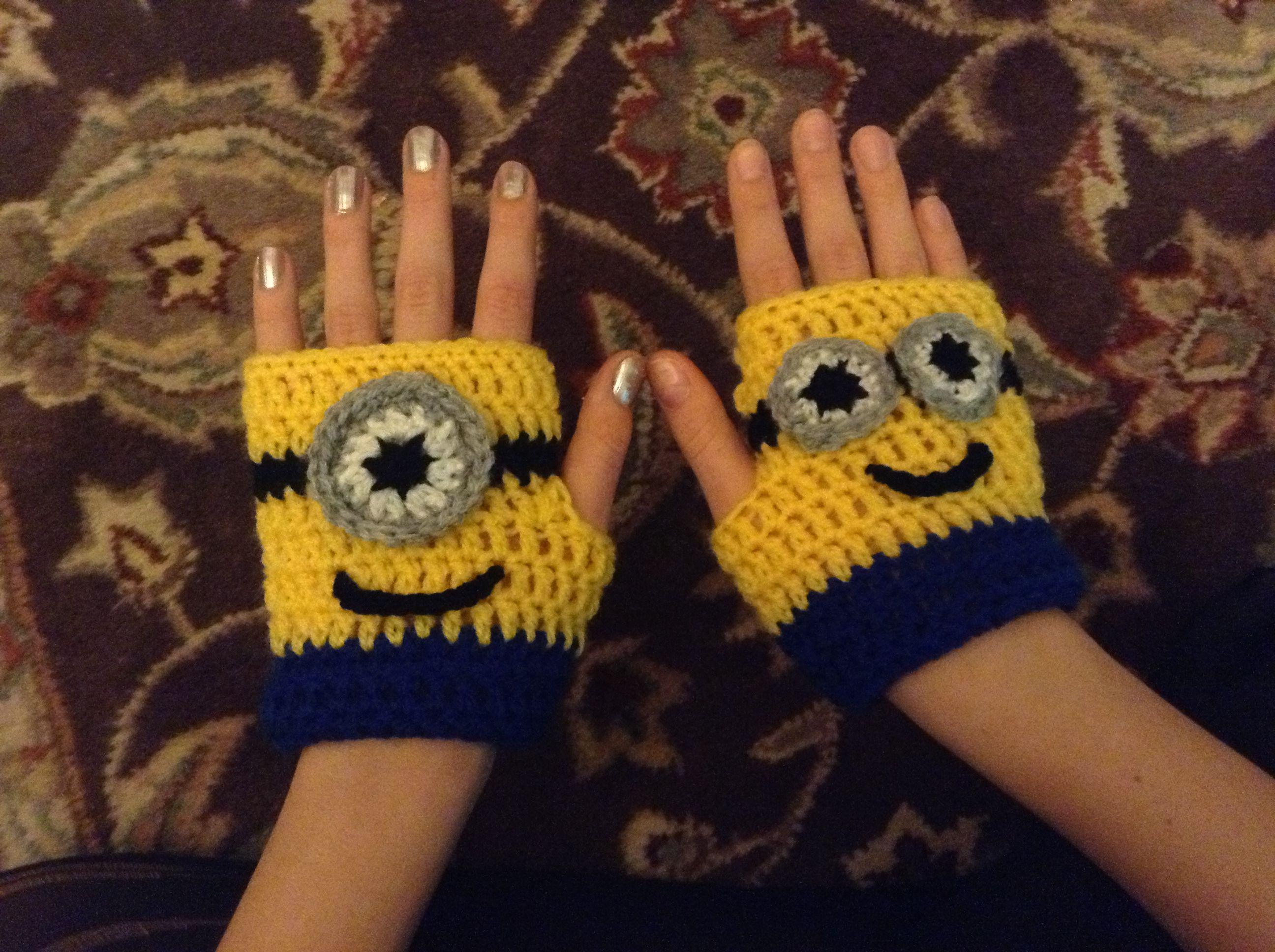 Minion Crochet Gloves Knitcrochet Pinterest Stricken Garn