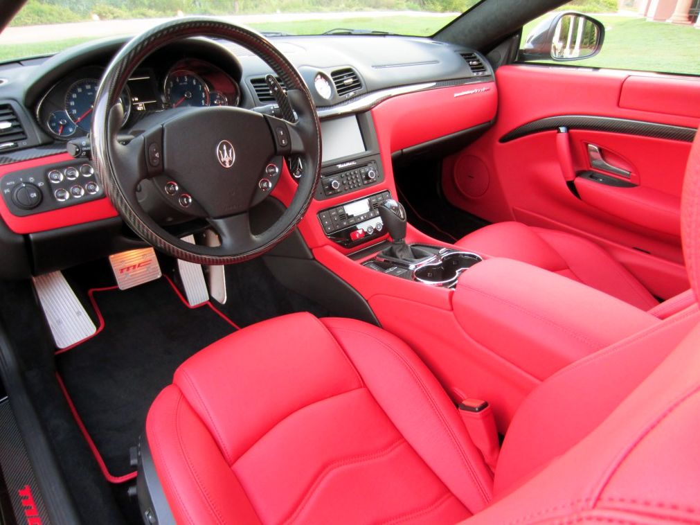 White Maserati Granturismo Red Interior   Google Search
