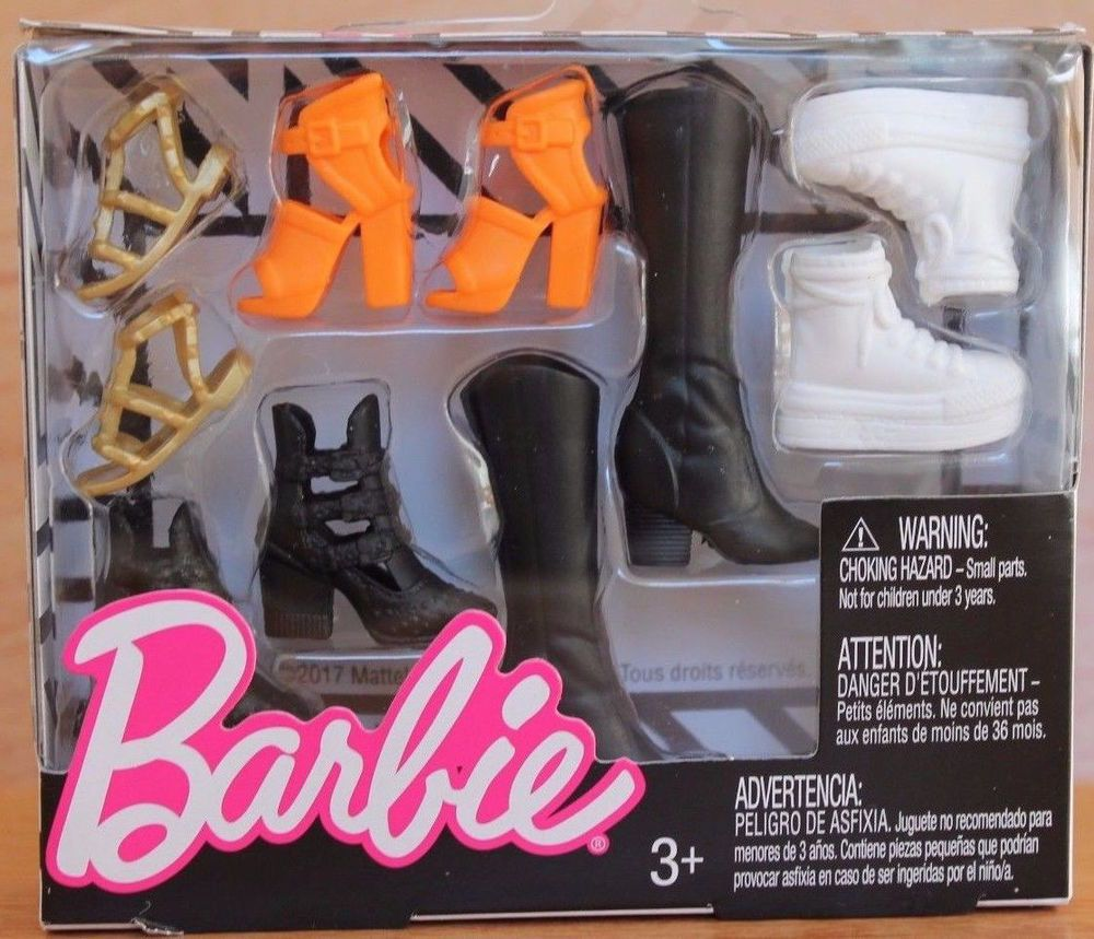 Barbie Accessories Curvy /& Tall Doll Shoe Pack