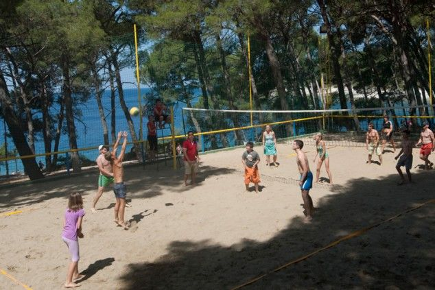 Croatia Mali Losinj Beach Volleyball Mali Losinj Croatia Beautiful Hotels