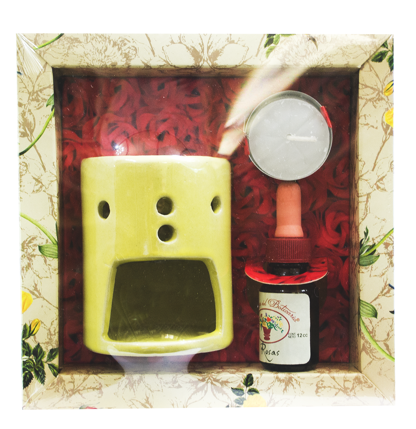 Set de Aromaterapia con Hornillo, Vela y Aceite Esencial