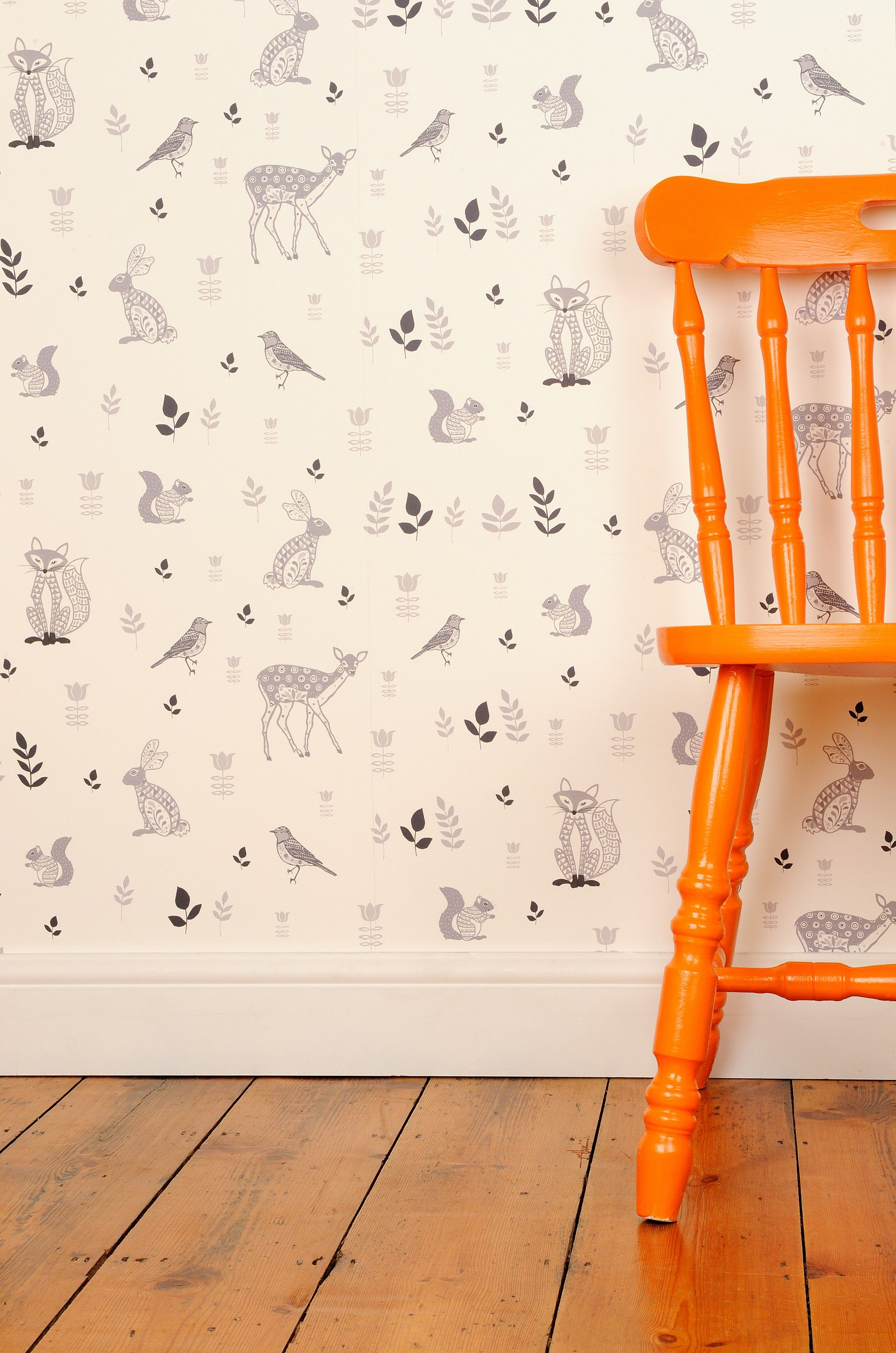 Woodland Animals Wallpaper Nursery wallpaper boy