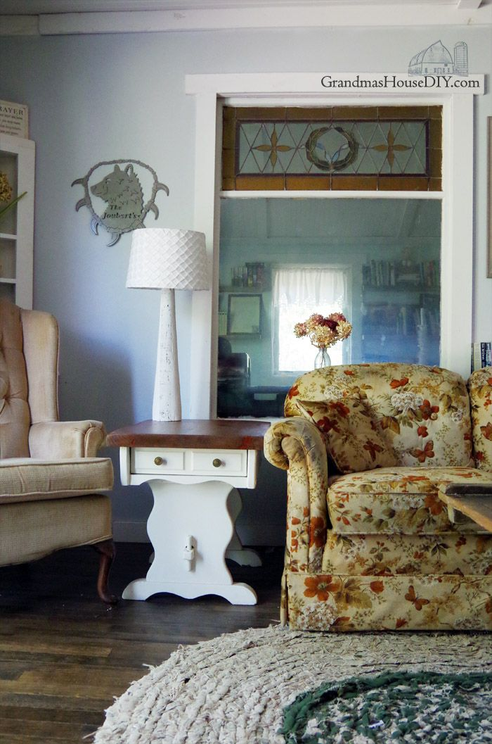 Bon Our Farmhouse Living Room Reveal Grandmau0027s, Country Chic, Thrift Stores And  Refinished Hand Me