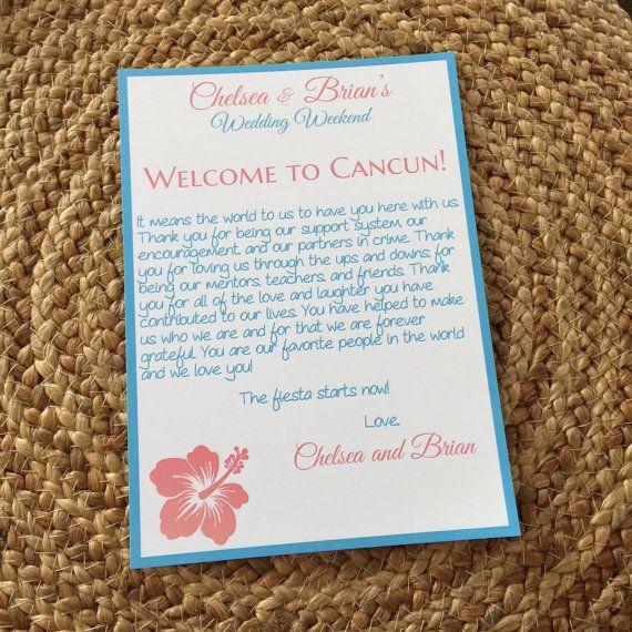 Destination Wedding Welcome Letter Beach Wedding Welcome Letter Best Selling Items Hibiscus Wed Wedding Welcome Letters Wedding Welcome Bags Hibiscus Wedding