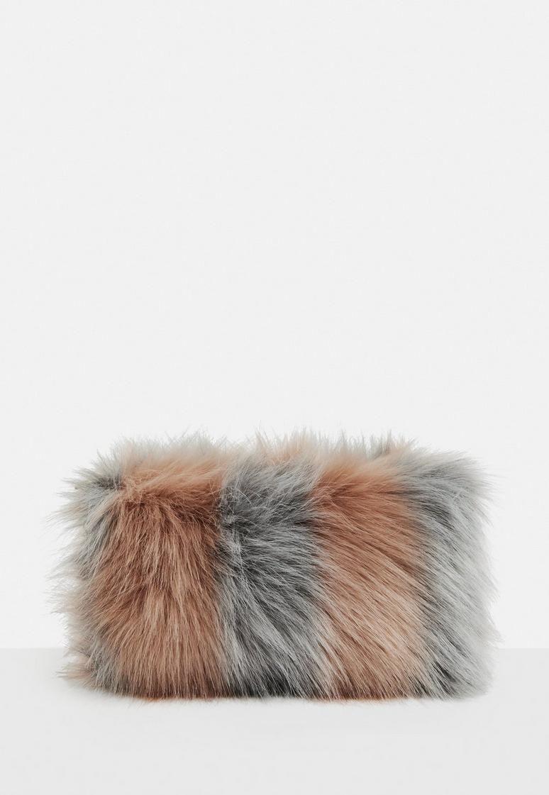 Pink Fluffy Clutch Bag  f354c41d55ddf