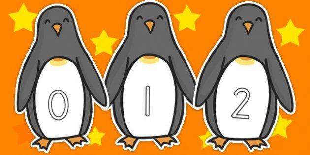0-30 Numbers On Penguins