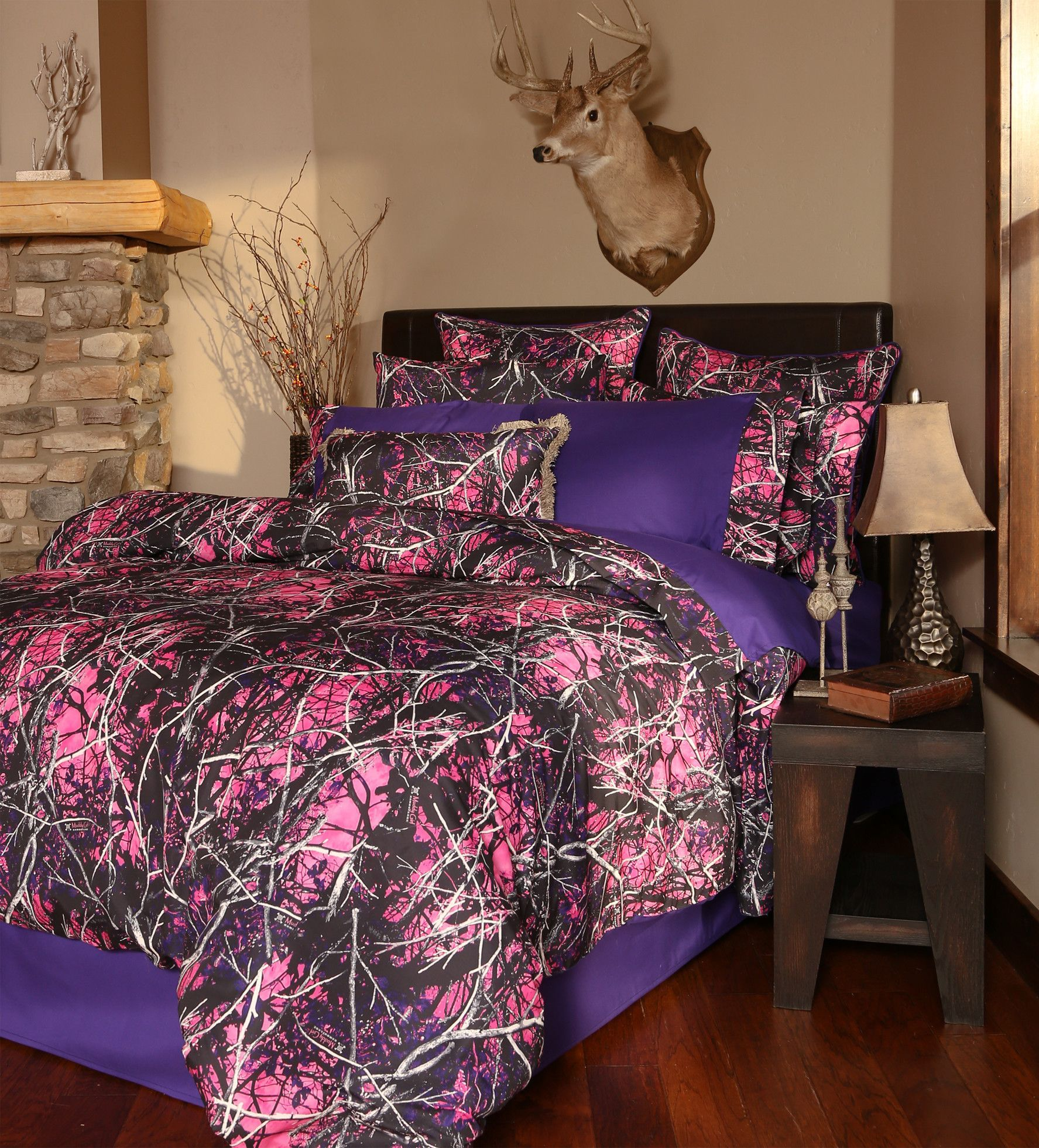 Pink camo bedding twin - Muddy Girl Camo Comforter Set