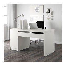 MALM Schreibtisch, weiß | Ikea malm schreibtisch, Ikea malm und Malm