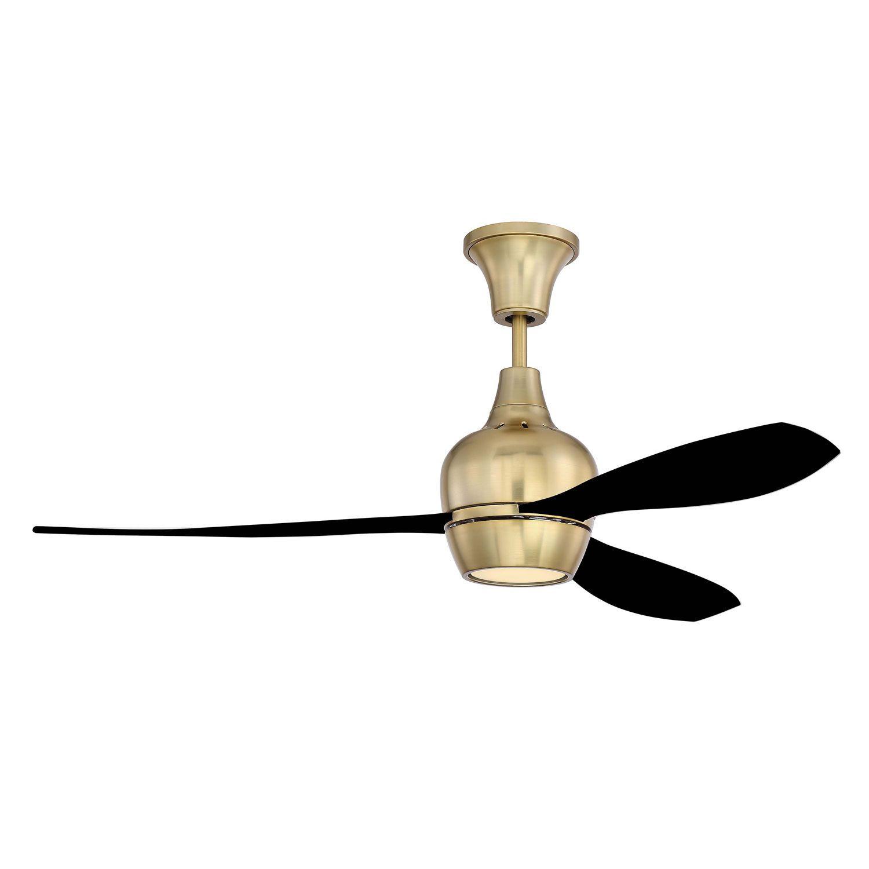 Craftmade Bordeaux Satin Brass Led 52 Inch Ceiling Fan With Flat Black Blade Brd52sb3 Fb Uci Bellacor Propeller Ceiling Fan Ceiling Fan Modern Ceiling Fan