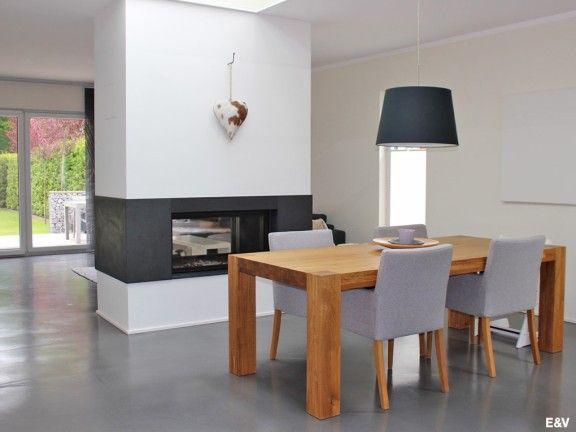 Exklusiv \ modern neuwertiges Einfamilienhaus Wohnzimmerideen - esszimmer massiv modern