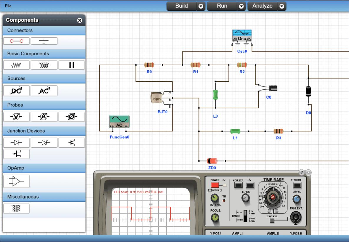 Todo Estudiante Técnico E Ingeniero Electrónico Tiene Instalado En Su Computadora Un Programa Para Simu Circuito Electrónico Electrónica Ingeniero Electronico