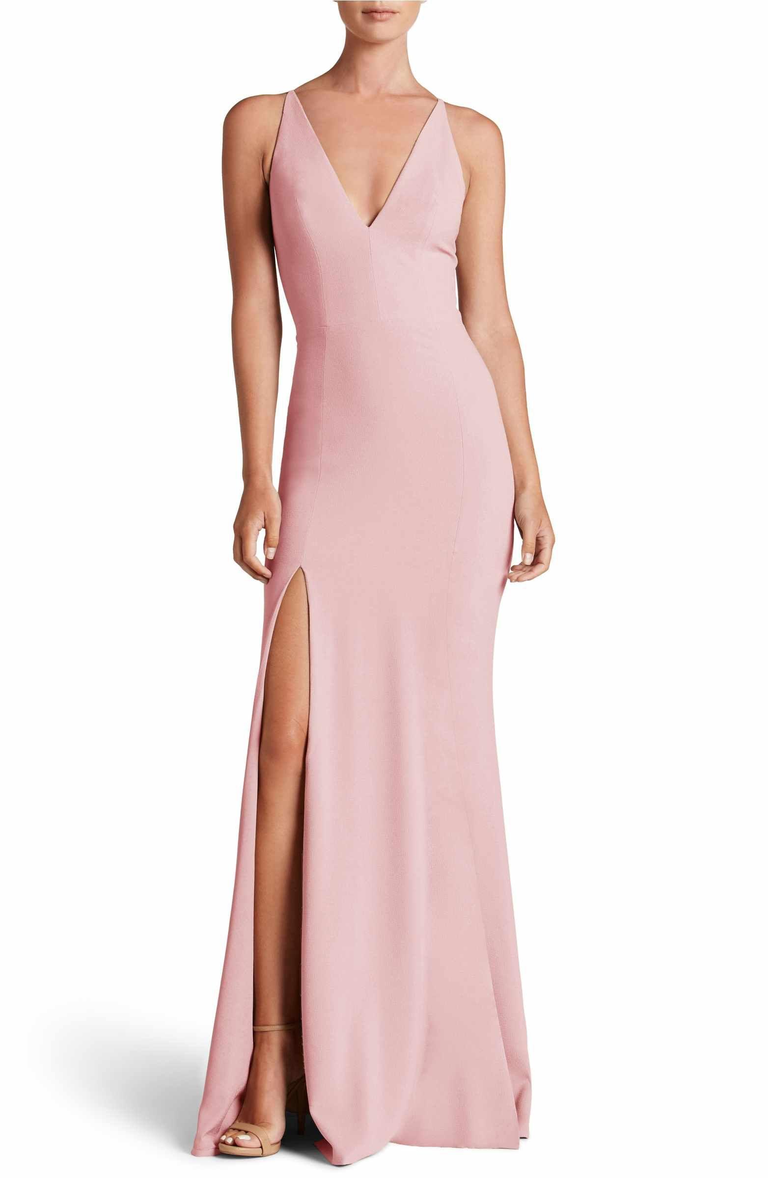 Main Image - Dress the Population Iris Slit Crepe Gown | Dresses ...